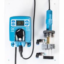 Bomba peristáltica de pH con electrodo amplificado de pH/Tª, con panel y cámara de flujo