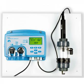 Controlador de pH/Redox/Tᆰ con Ethernet, y camara de flujo