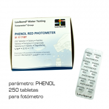 TAB PHENOL RED 250 UN PHOTOMET